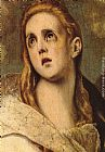 El Greco Wall Art - The Penitent Magdalene [detail]